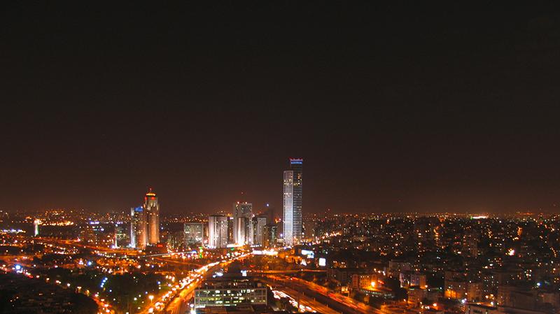 Tel Aviv bei Nacht
